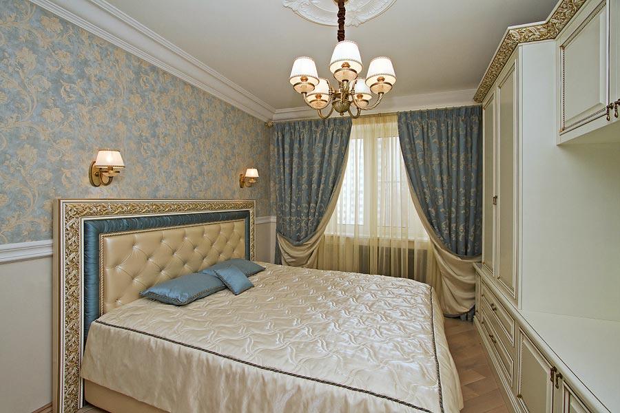 двухцветный дизайн спальни