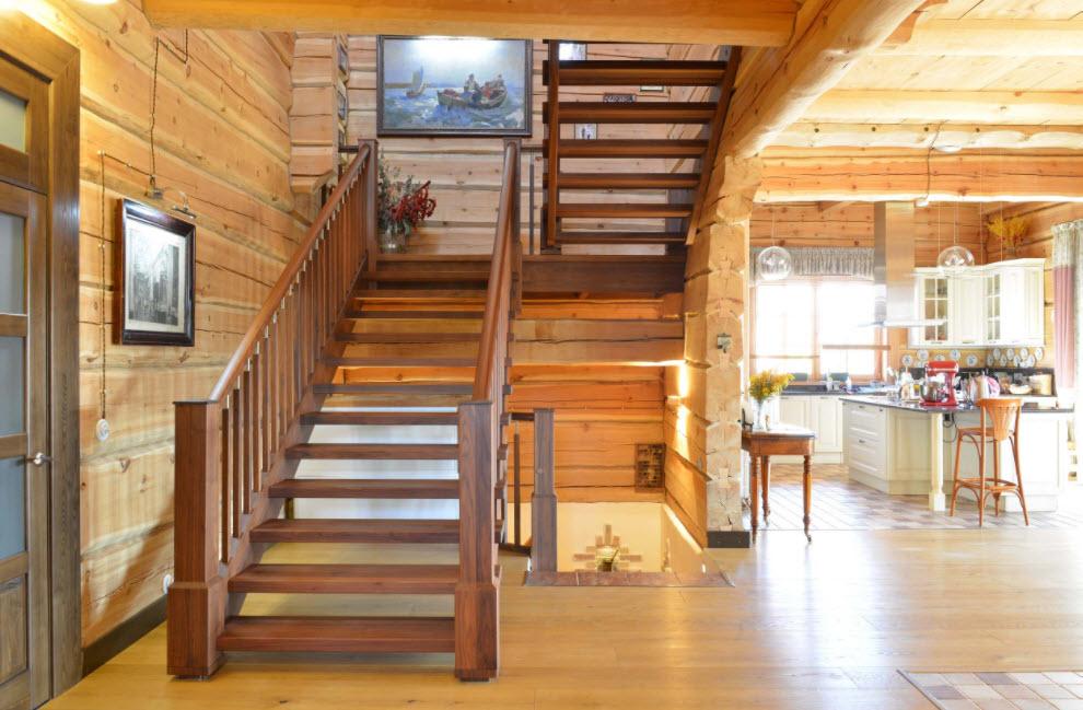 деревянная лестница на 2 этаж
