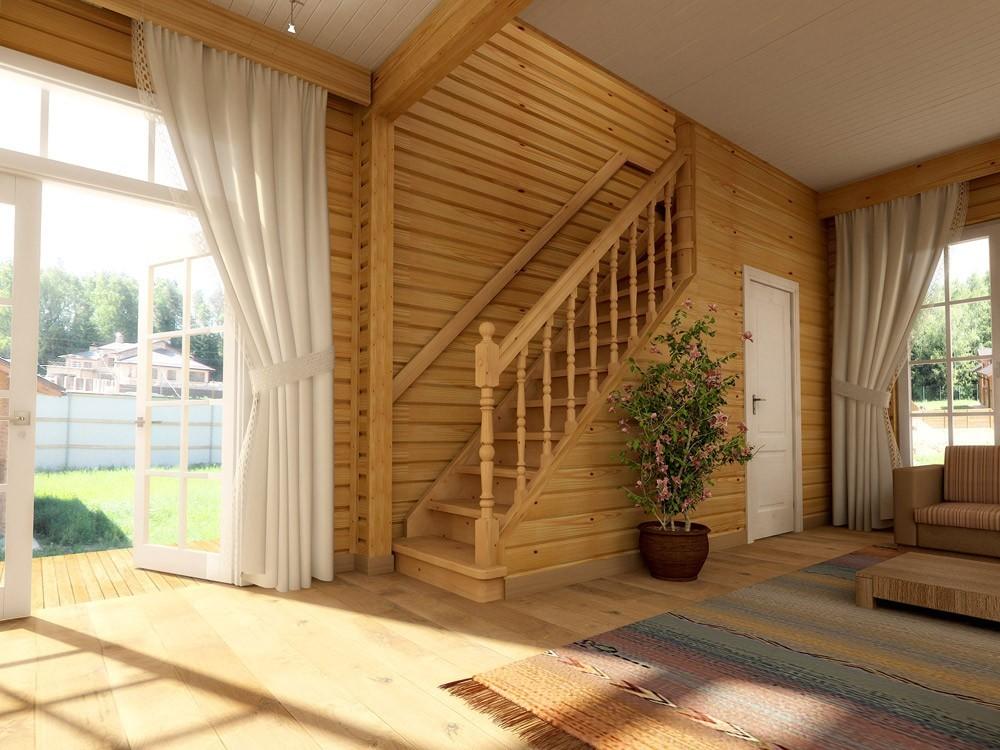дизайн мансардной лестницы в частном доме