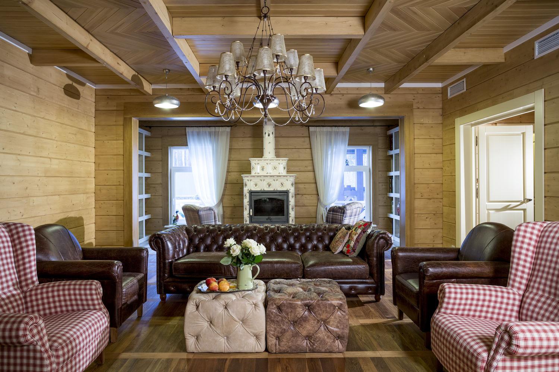 дом из бруса в стиле прованс