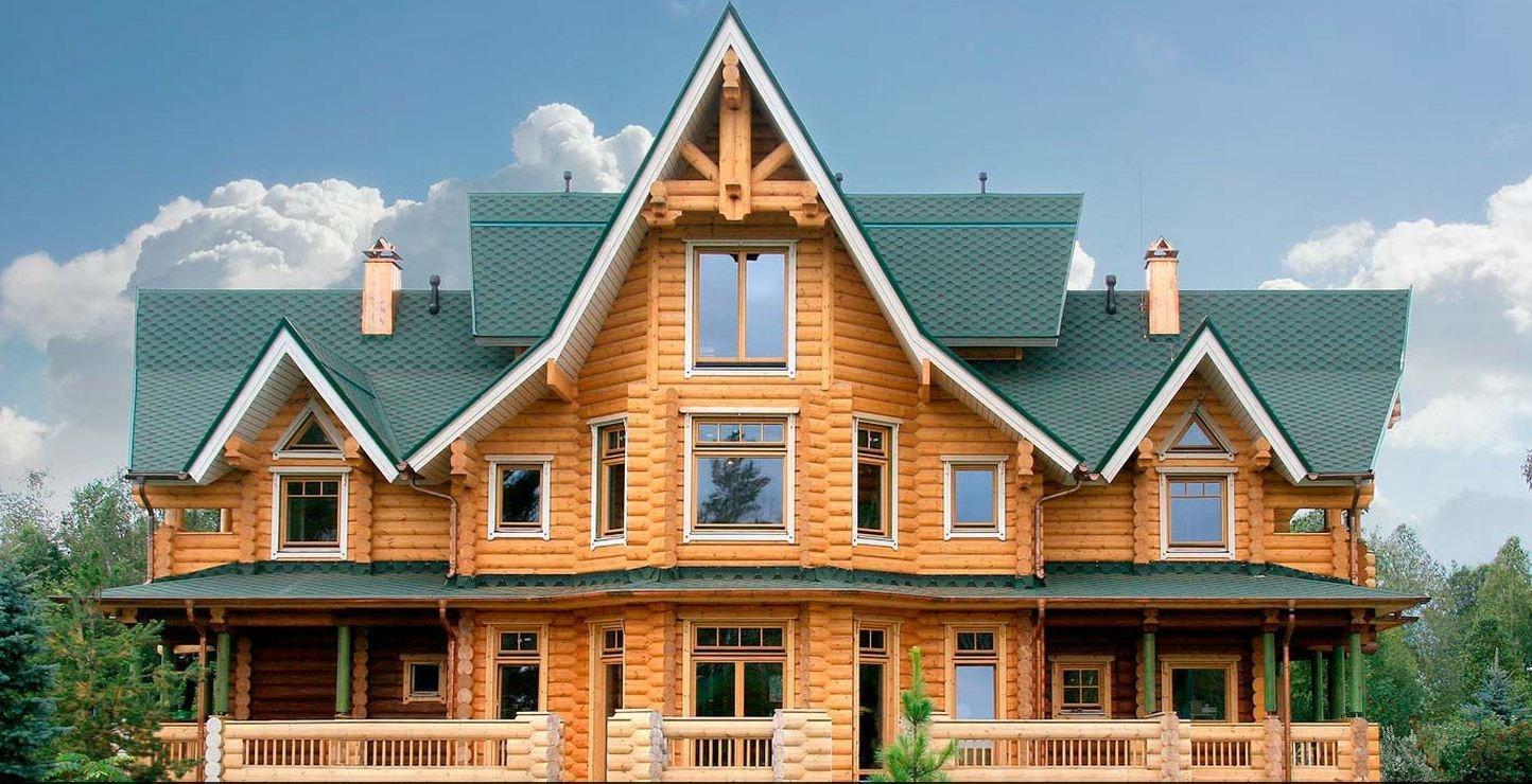 дом с оригинальной крышей