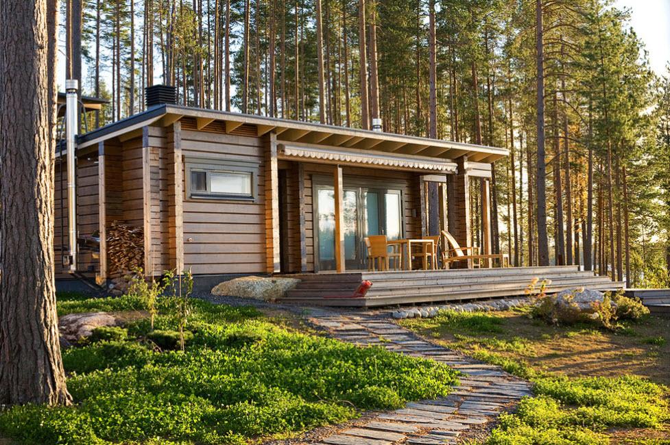 идея одноэтажного домика для дачи