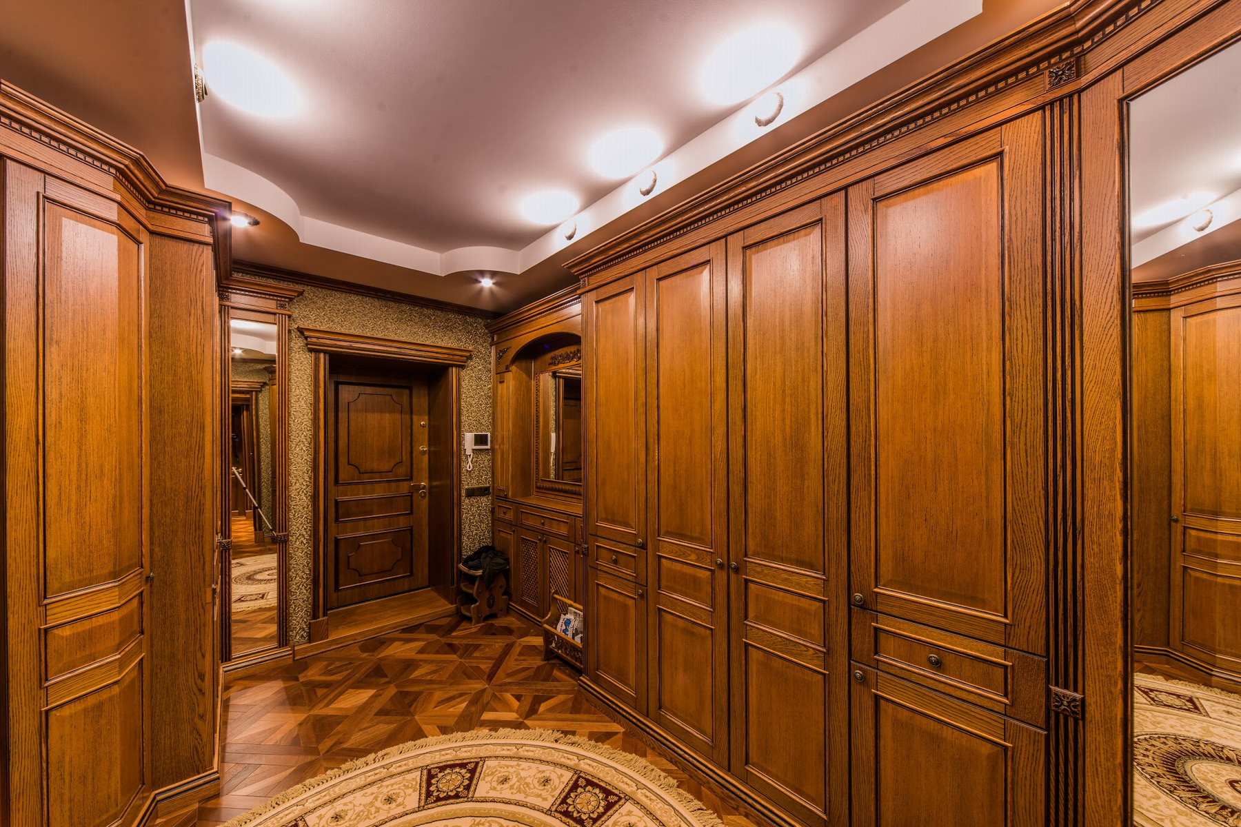 интерьер стильного дома из дерева