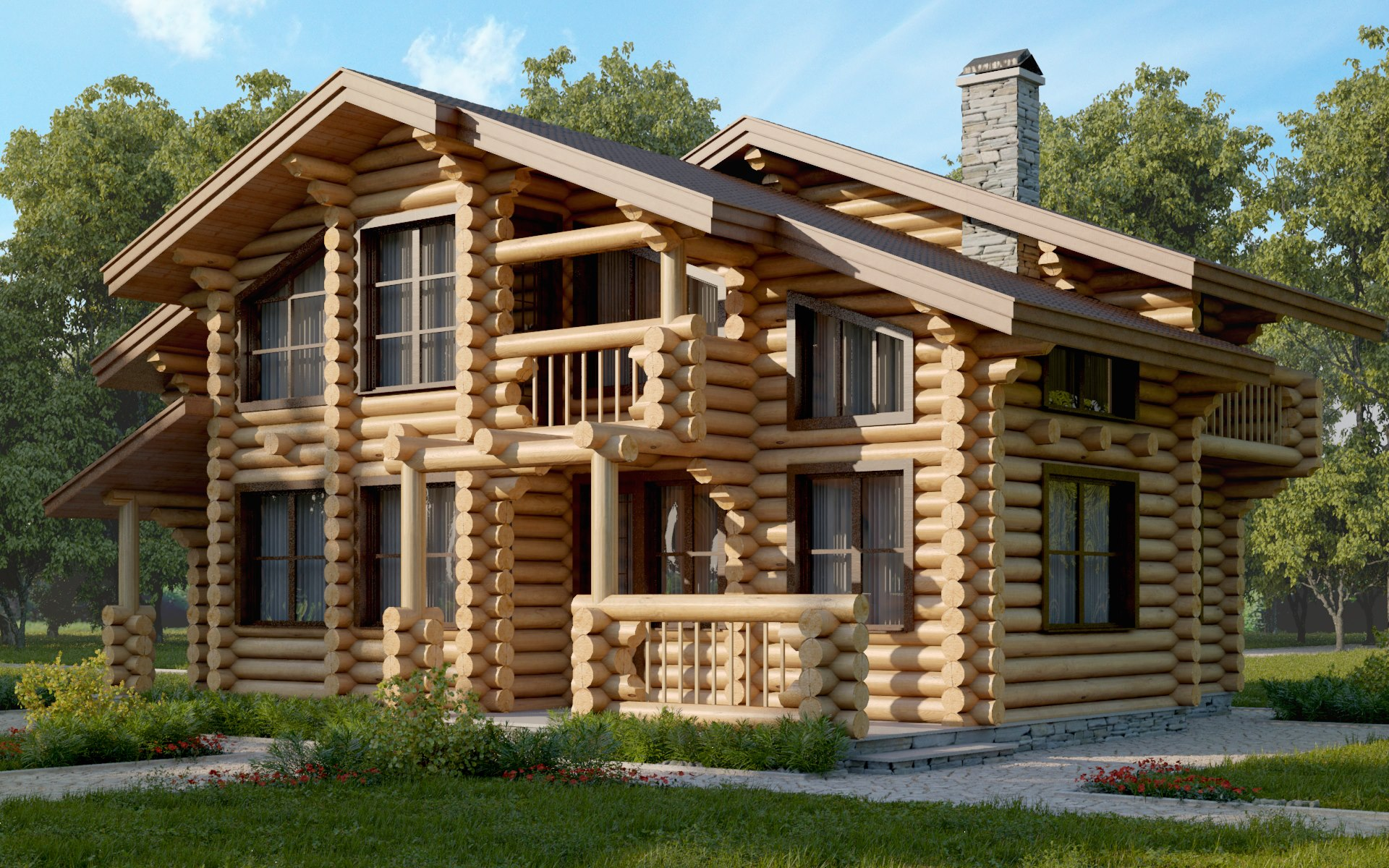 использование бревен в строительстве дома