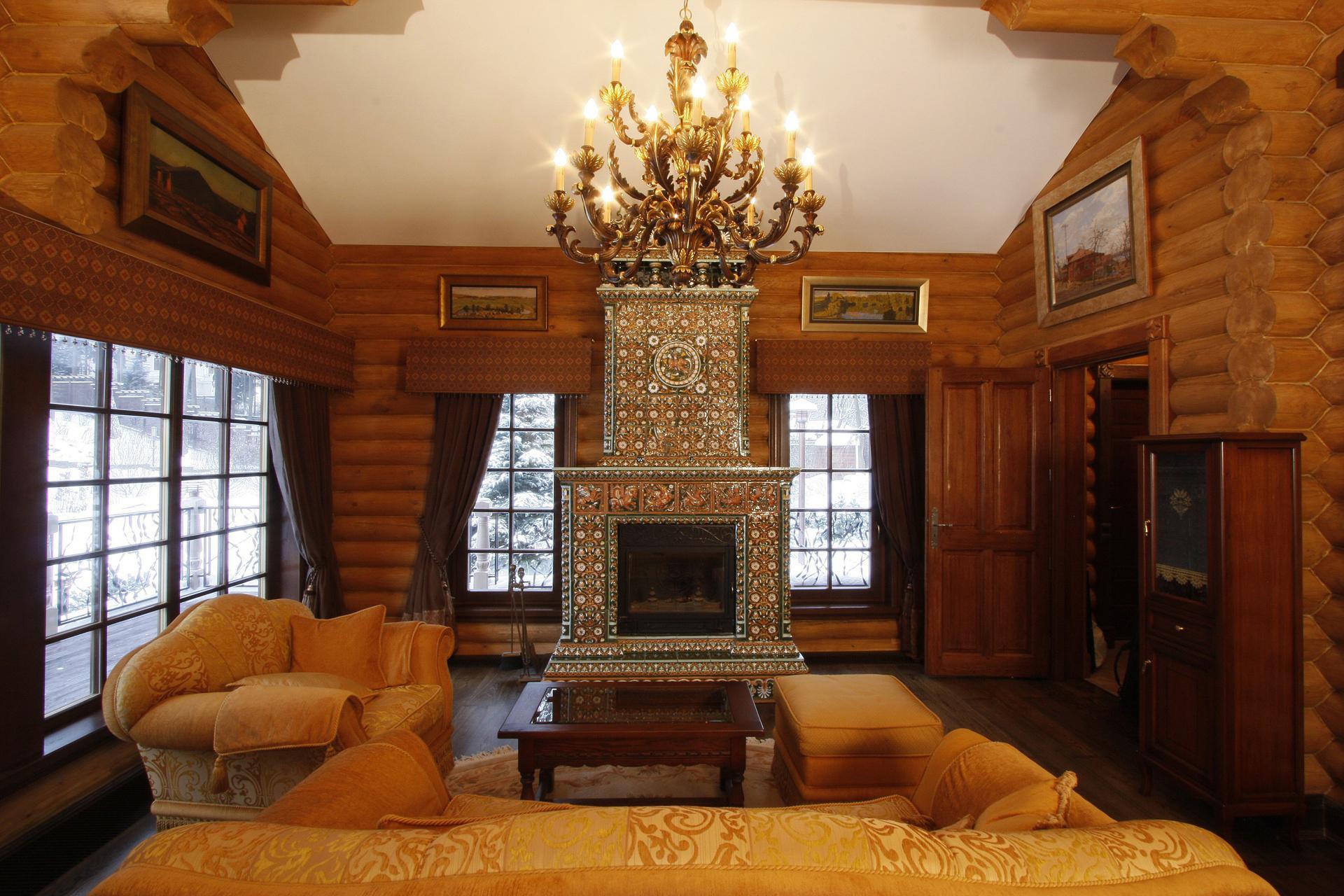 классика в деревянном доме