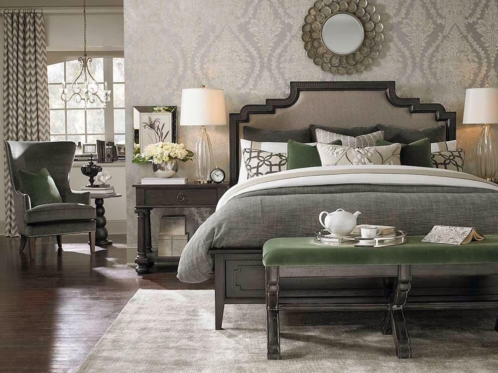 классическое сочетание оттенков в спальне