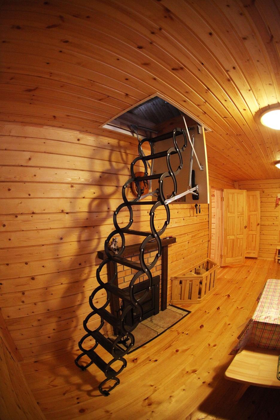 кованая мансардная лестница