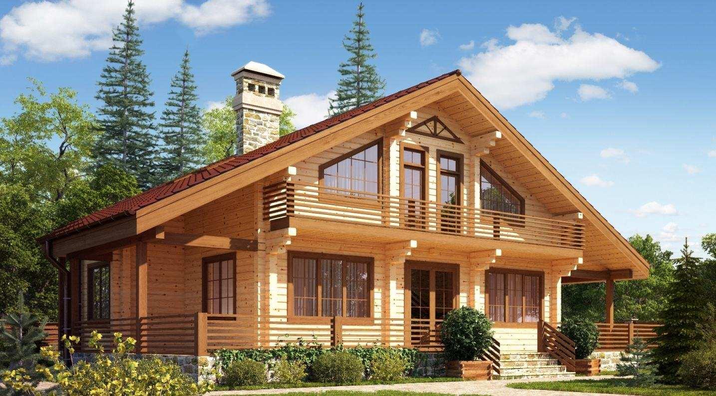 красивое оформление деревянного дома