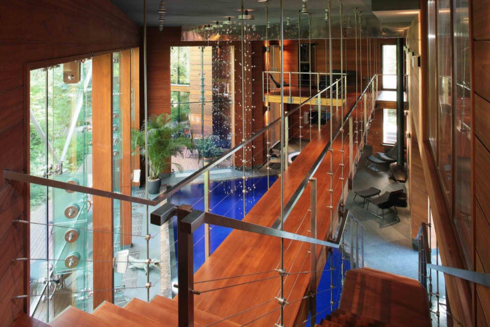 лестница в современном коттедже