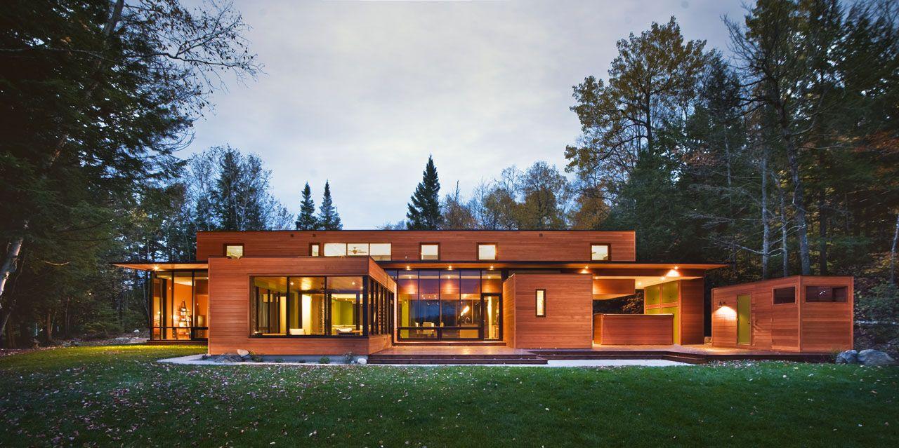 одноэтажный дом из дерева