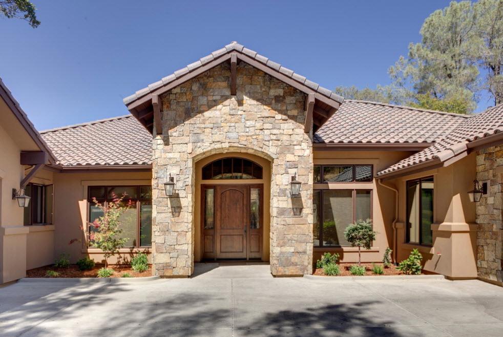 одноэтажный дом из камня