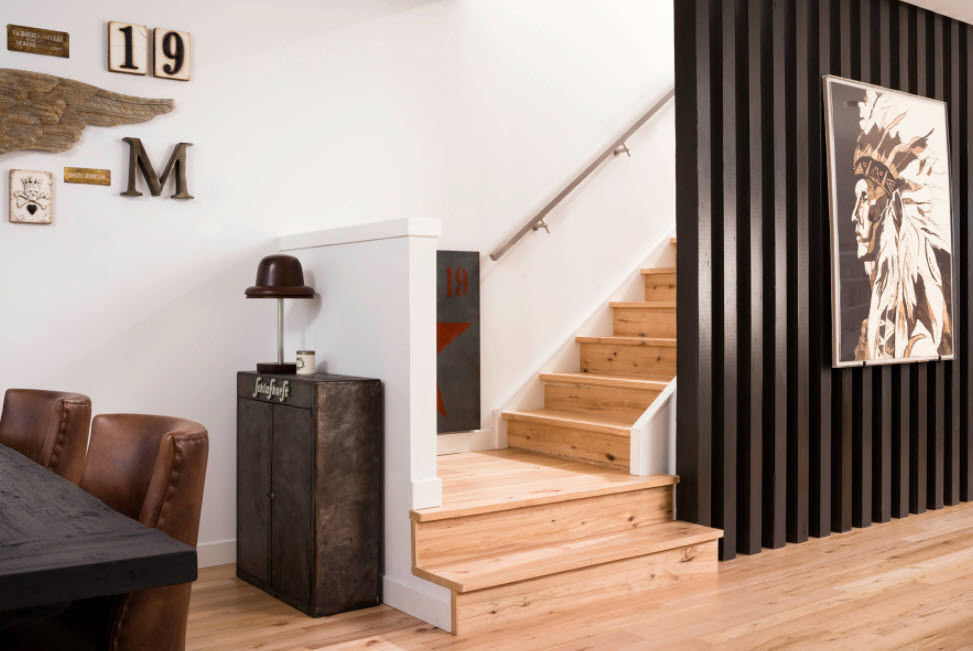 скрытая деревянная лестница