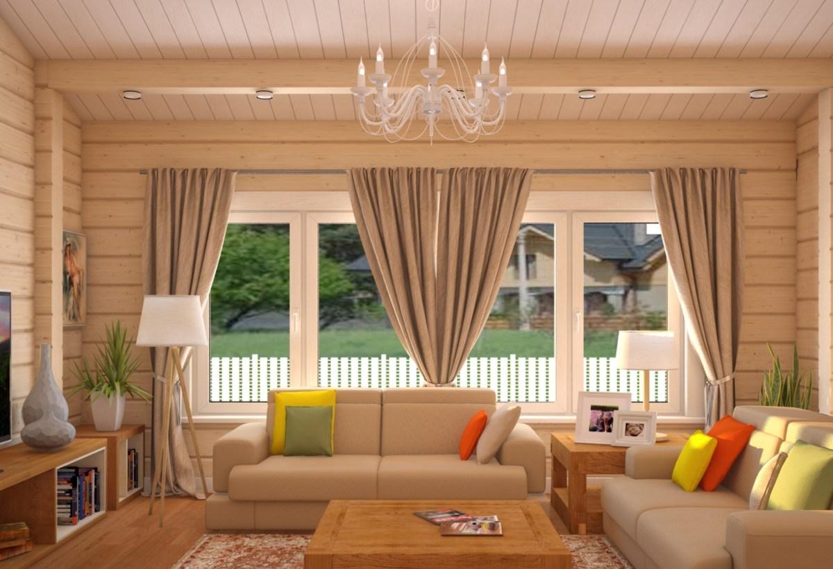 современный дизайн деревянного дома