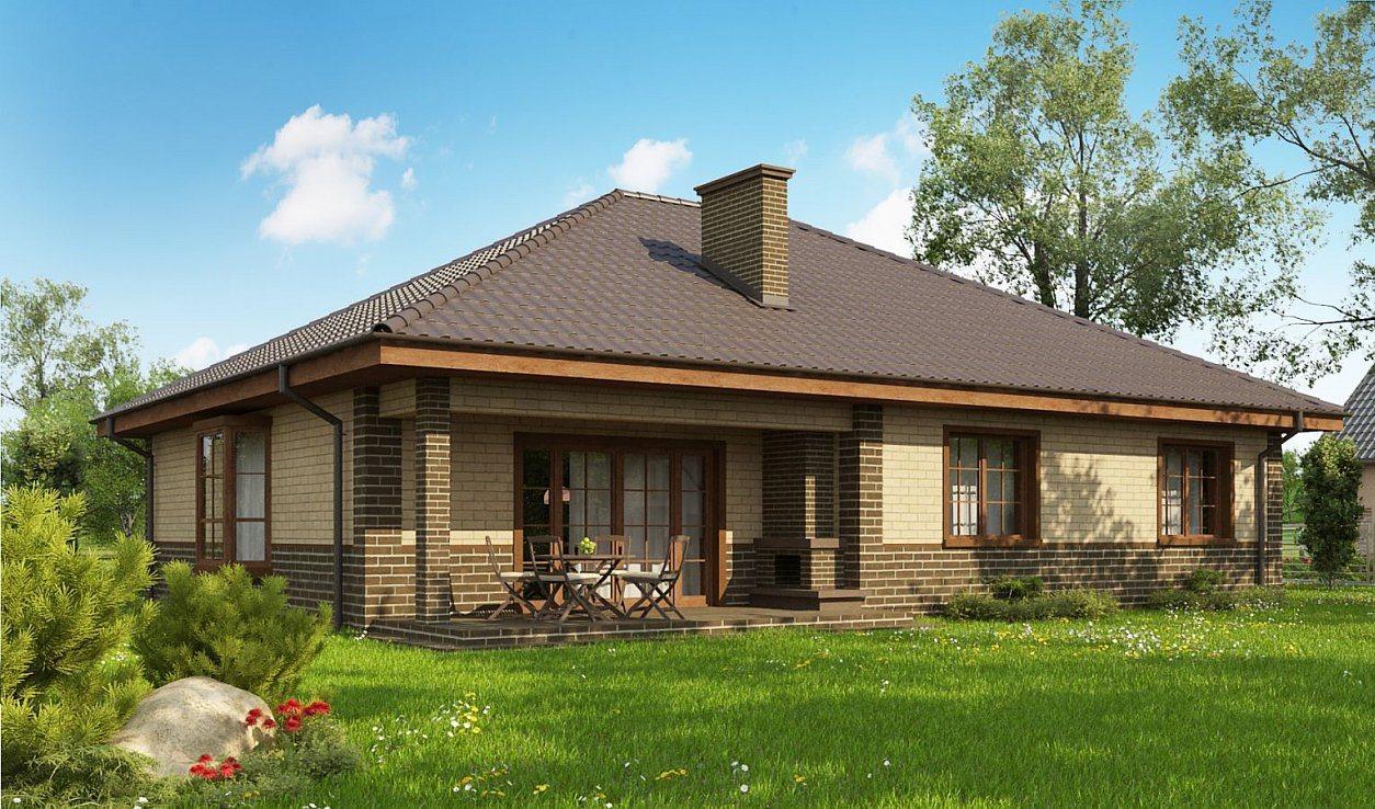 современный проект одноэтажного дома