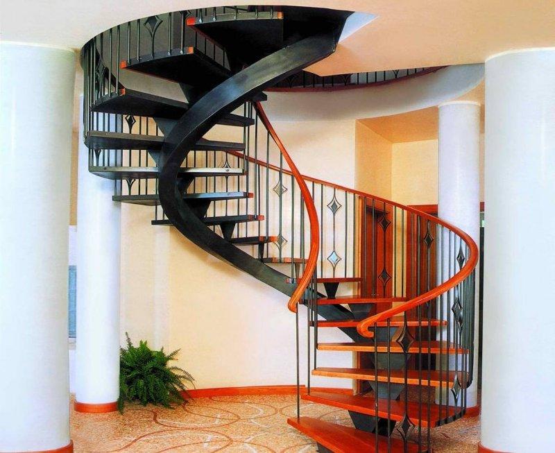 стильная винтовая лестница