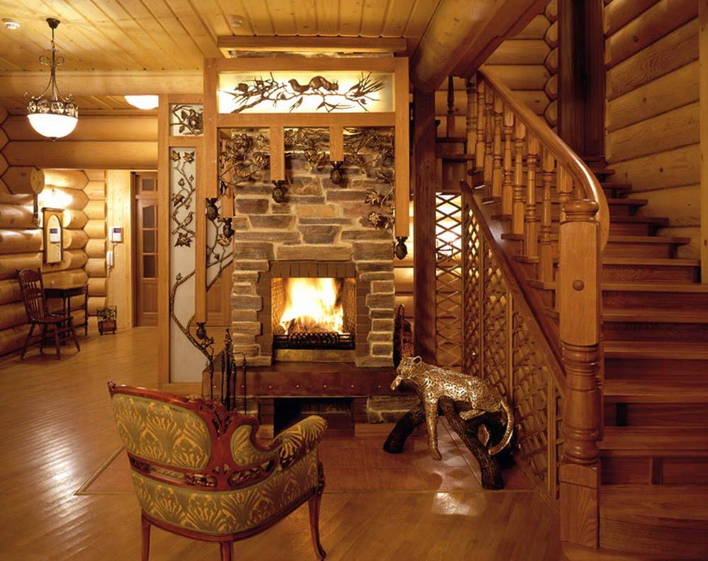 стильный деревянный дом