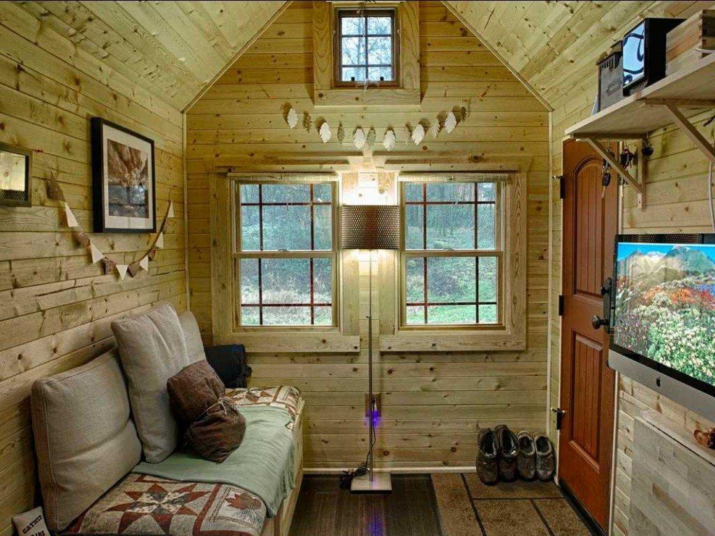 уютный деревянный домик