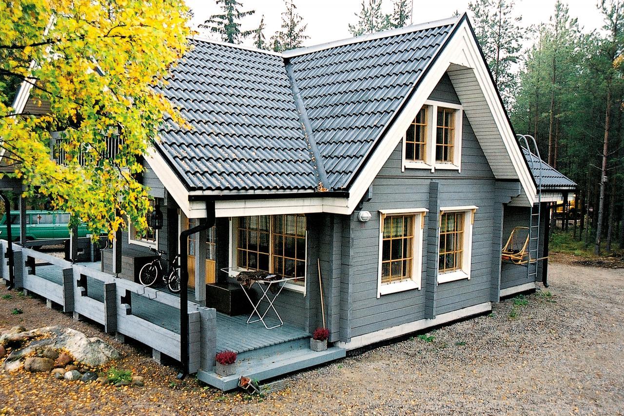 финский домик из дерева