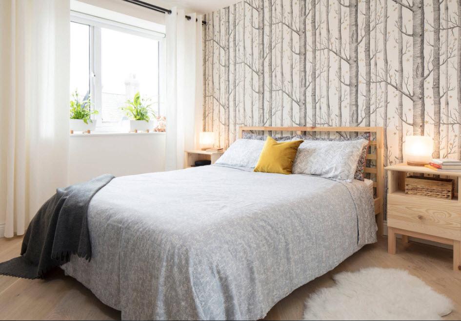 Дизайн для спальни средних размеров