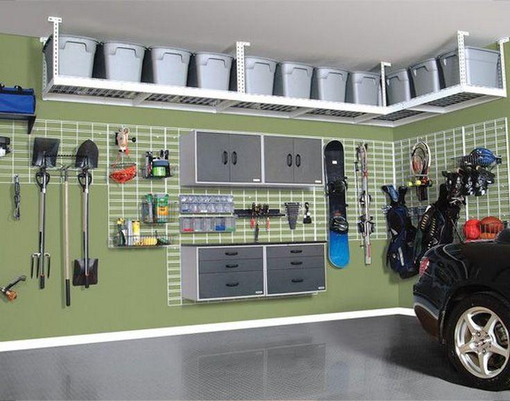 27f6950dff1f85f61b8623e5efe474f6-hanging-shelves-garage-diy-garage-overhead-storage
