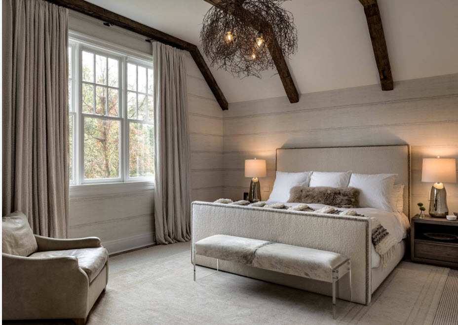 Светло-бежевая спальня