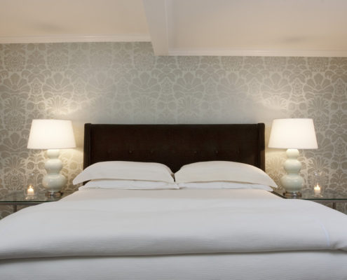 contemporary-wallpaper-designs-bedroom-contemporary-with-accent-wall-bedside-table