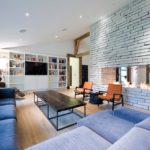 Камин в гостиной: стильные решения дизайна 2018