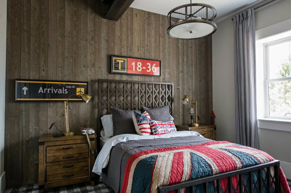 Кантри-мотивы в спальне