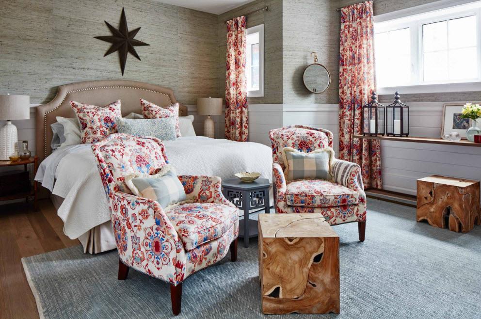 Ткань с рисунком для спальни