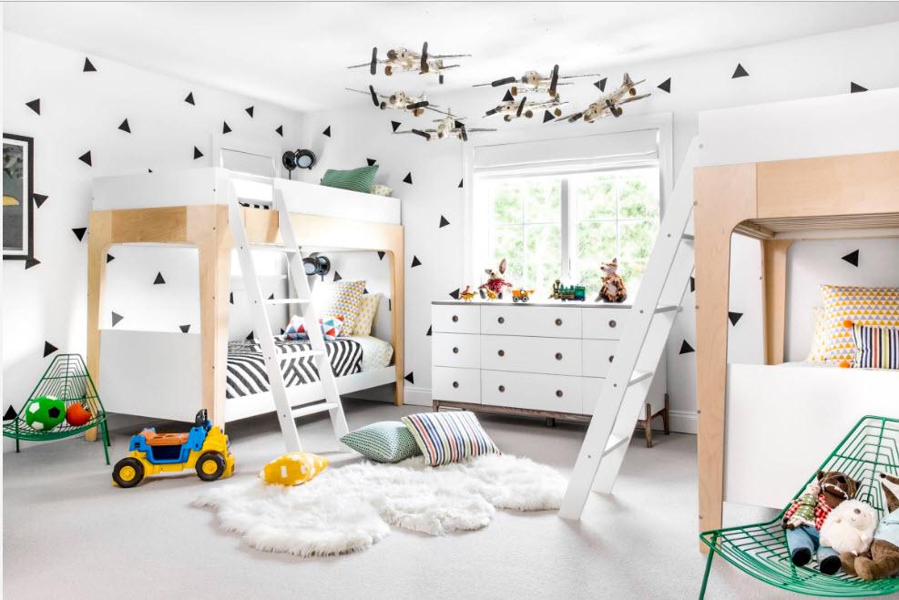 Детская комната для нескольких детей