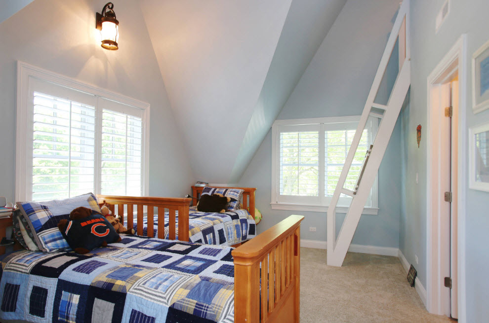 Перпендикулярная установка спальных мест