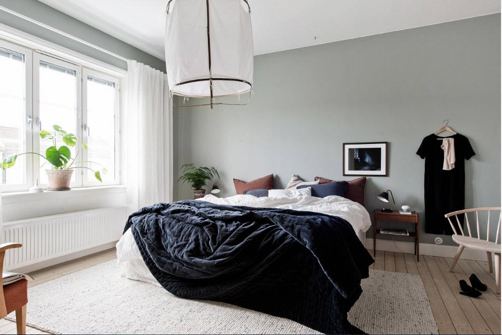 Скандинавские мотивы для спальни