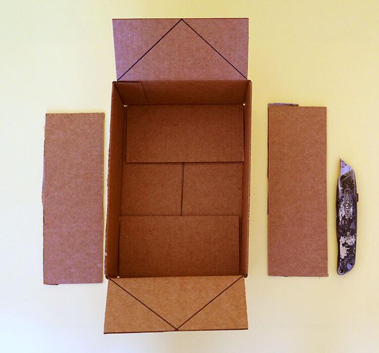 Как сделать домик для кошки из коробки своими 628