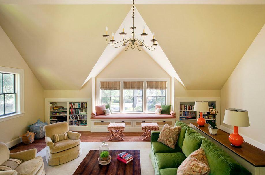 Подборка Шторы на мансардные окна: дизайнерские идеи, которые помогают интересно декорировать чердачное помещение на фото