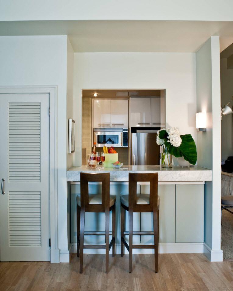 Подборка Кухня 6 кв. м с холодильником: множество вариантов красивого и функционального дизайна на фото на фото