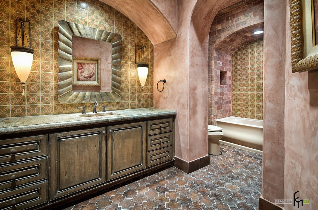 Ванная в марокканском доме