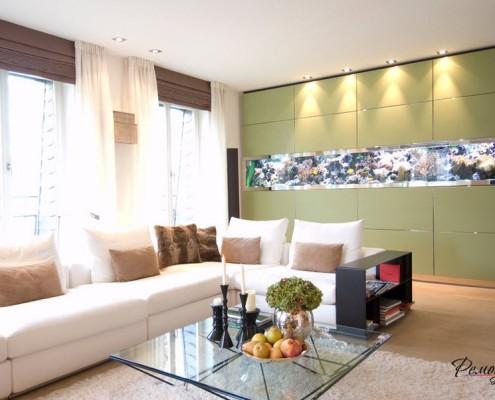 Подсветка стены гостиной