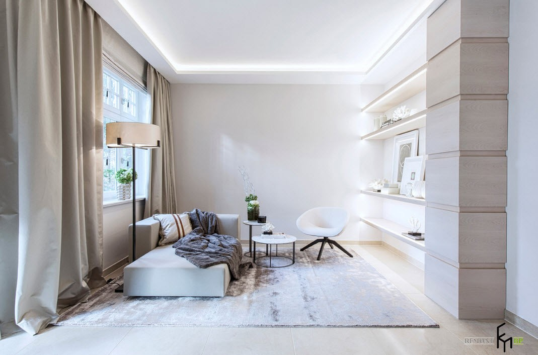 Светлый интерьер городской квартиры