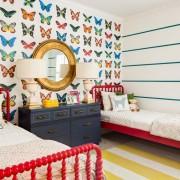 Бабочки на стене в детской
