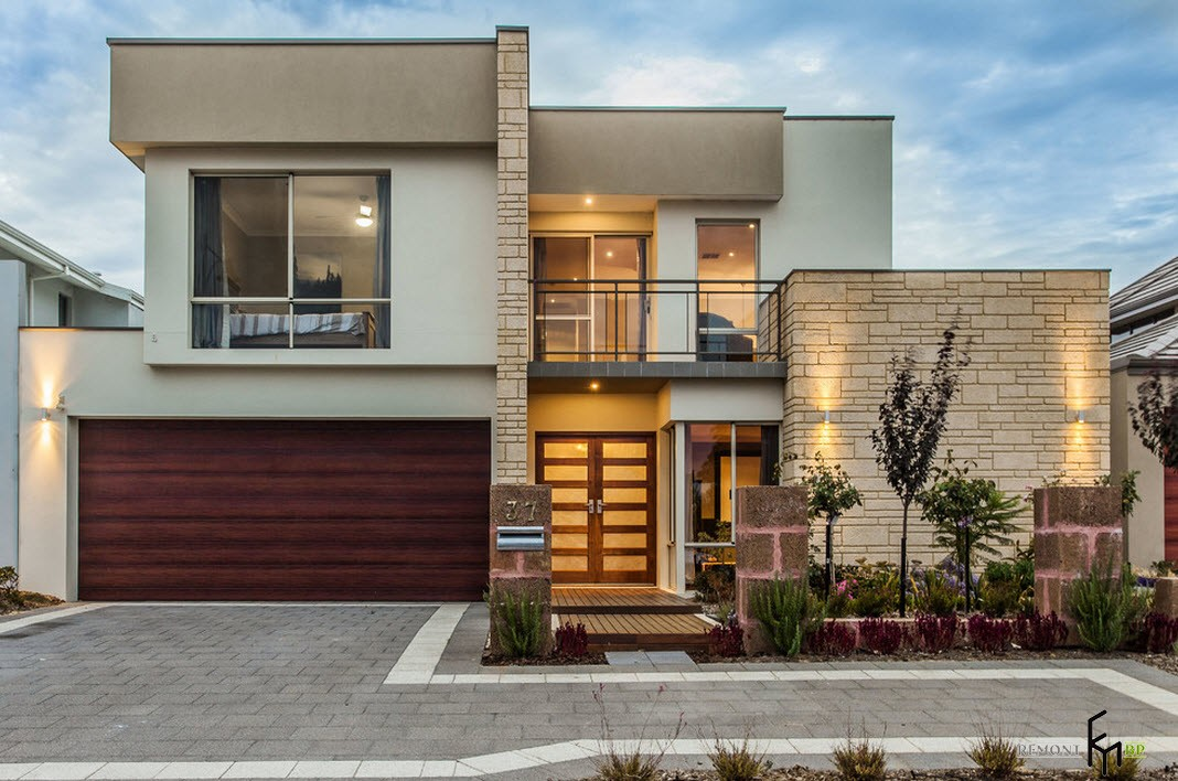 100 - Protruding balcony modern house plans ...