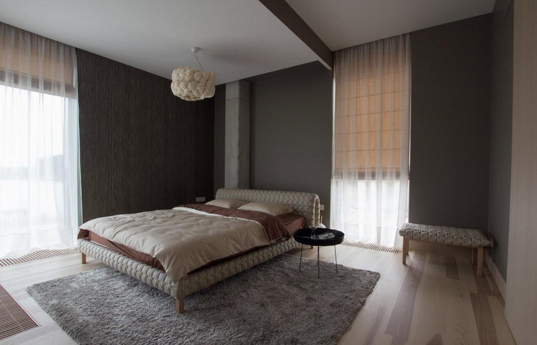 Темные цвета в спальне