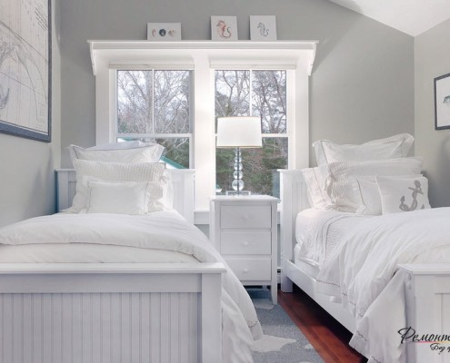 Дизайн комнаты выполнить в умеренно светлых тонах