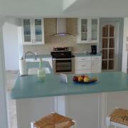 Матовое стекло на кухне