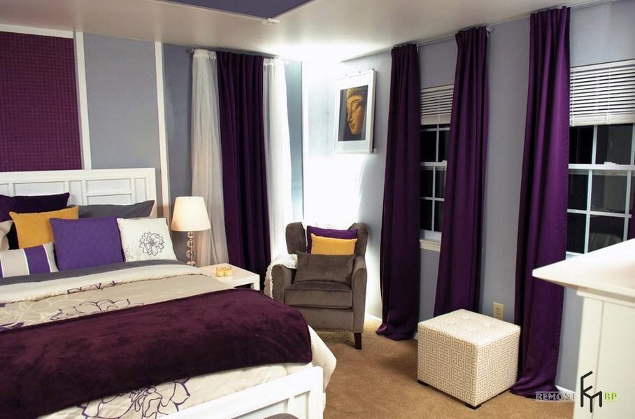 Бархатный текстиль в спальне