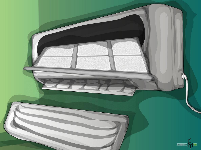 Третий способ чистки кондиционера. Третий шаг