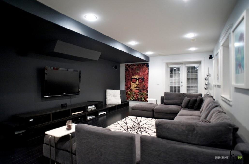 Стильный дизайн-проект гостиной 2015, модные варианты оформления зала на фото