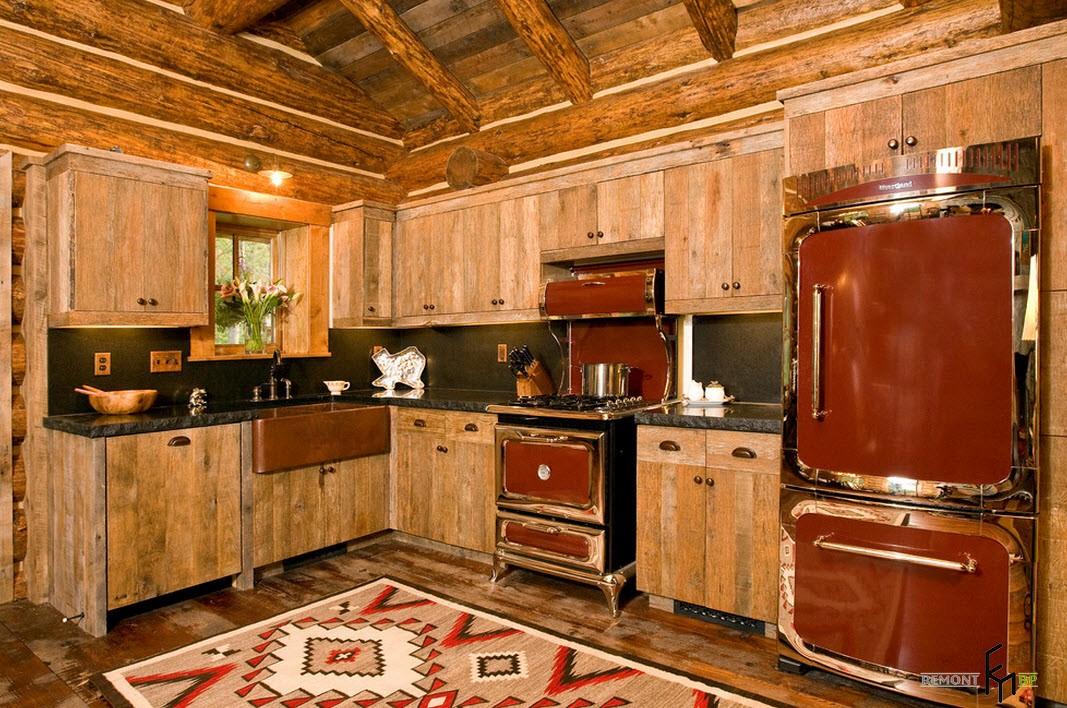 Кухня в охотничьем стиле