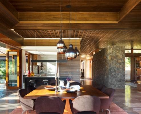 Потолочные балки в японском доме