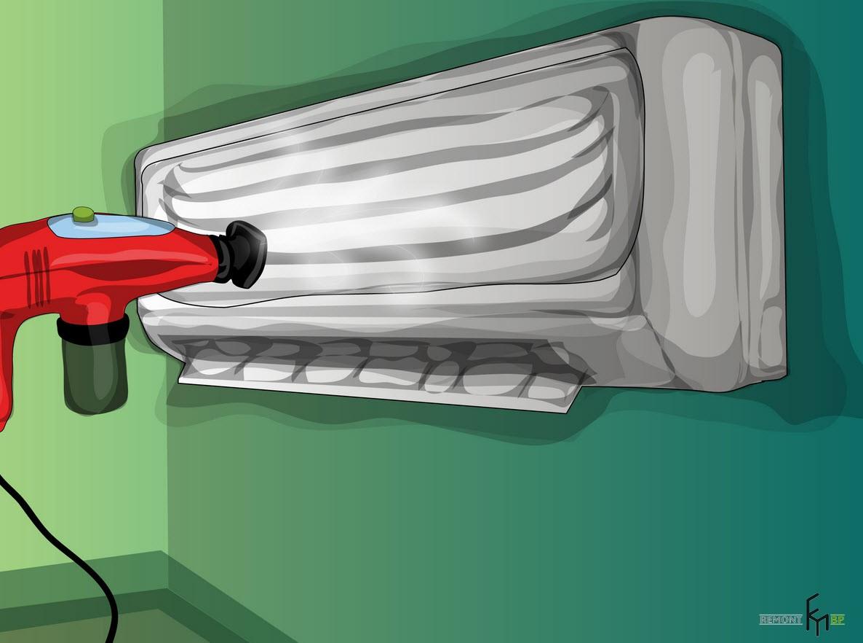Третий способ чистки кондиционера. Пятый шаг
