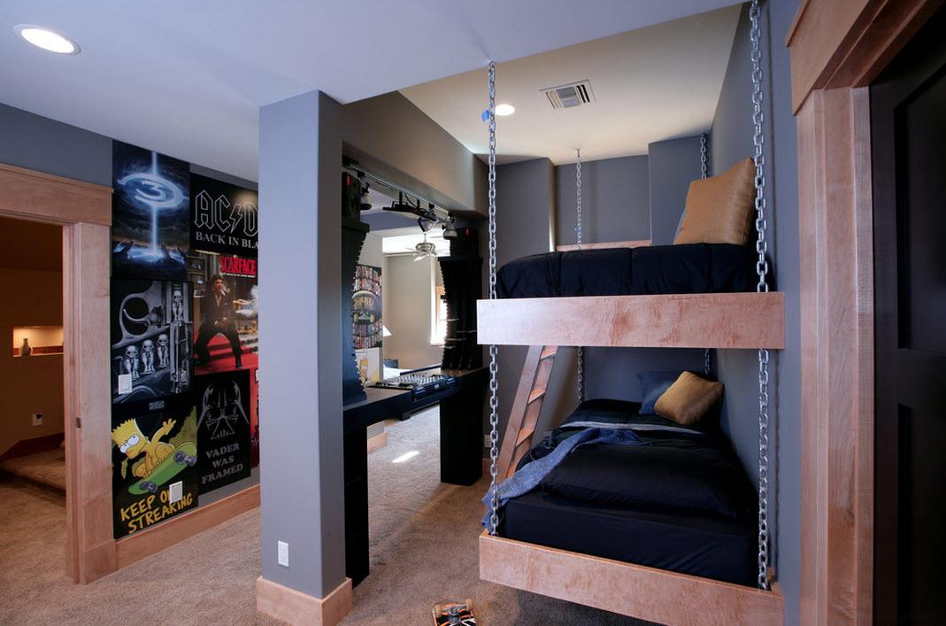 Комната в стиле рок